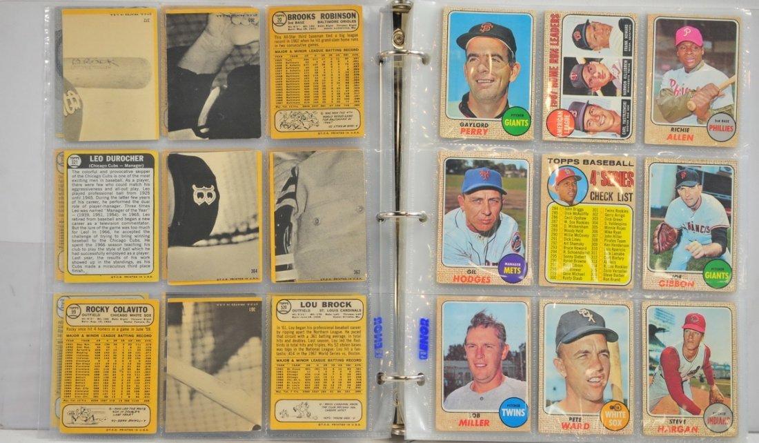 Album of 153 1968 Topps Baseball Cards