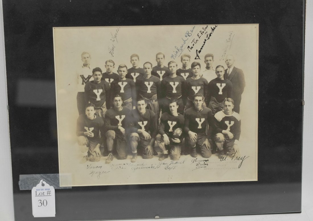 Yale Football Signed Team Photo