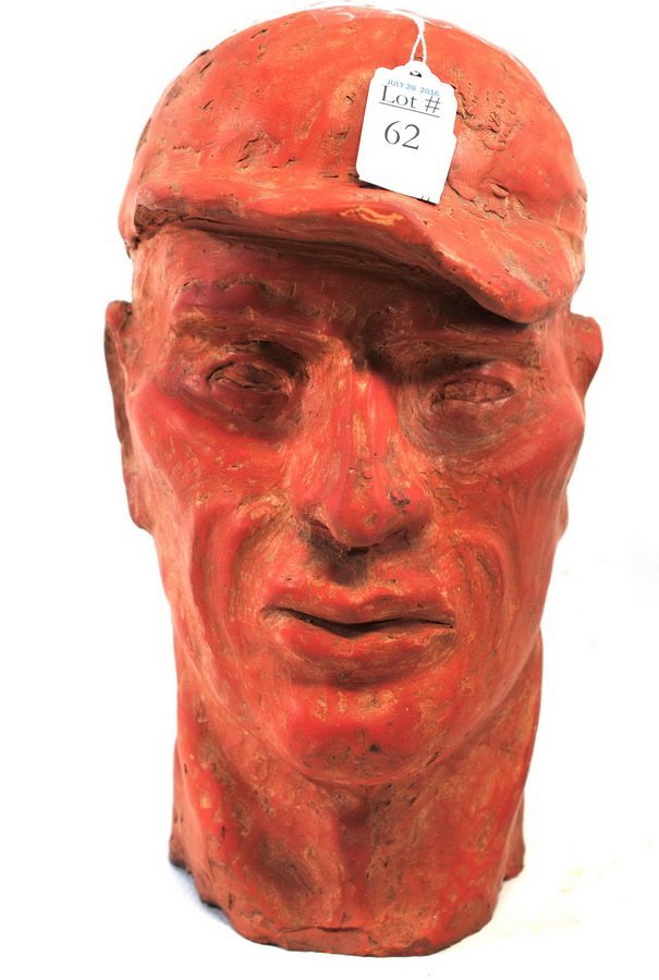 Redware Sculpture of Joe DiMaggio By John Rood