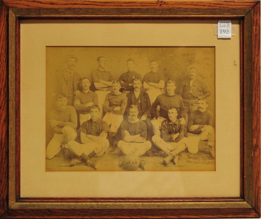 1893 Basketball team cabinet photo 13x10