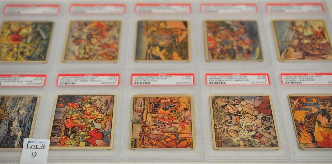 65 PSA Graded 1938 Horrors of War Cards
