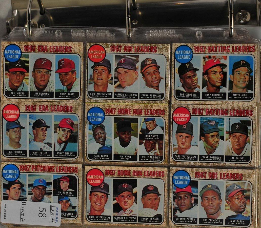1968 Topps Complete Baseball Set