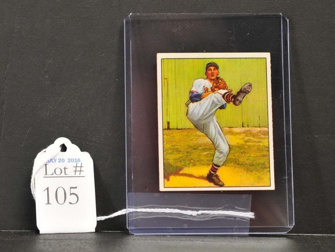 1950 Bowman Warren Spahn Card