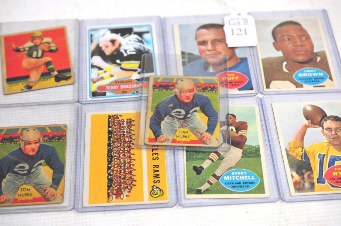 9 Early Football Cards
