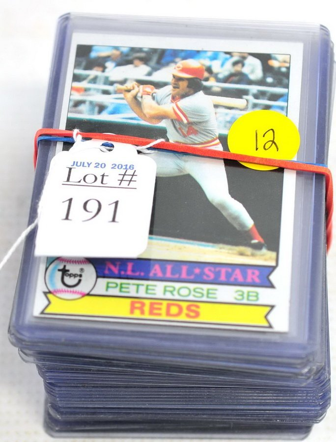 37 Pete Rose Cards 1979 and 1980