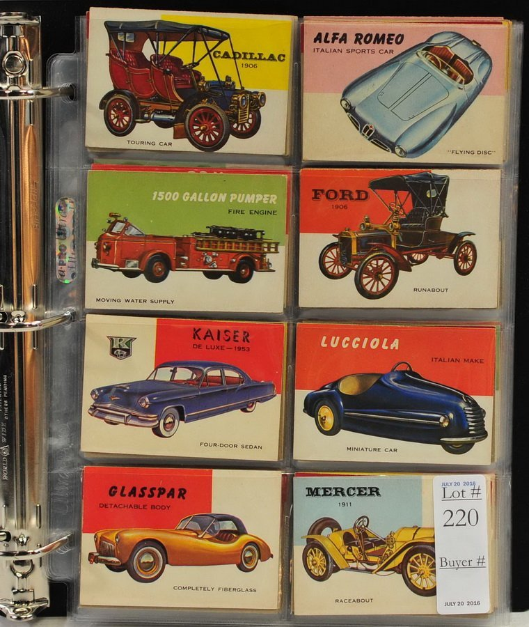 112 1954 Topps World On Wheels Cards