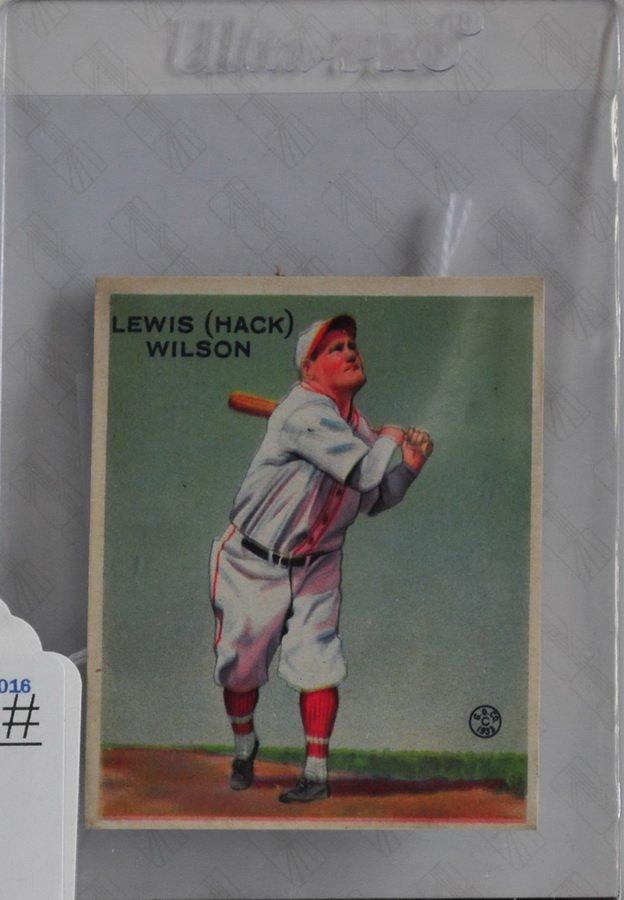 1933 Goudey Hack Wilson