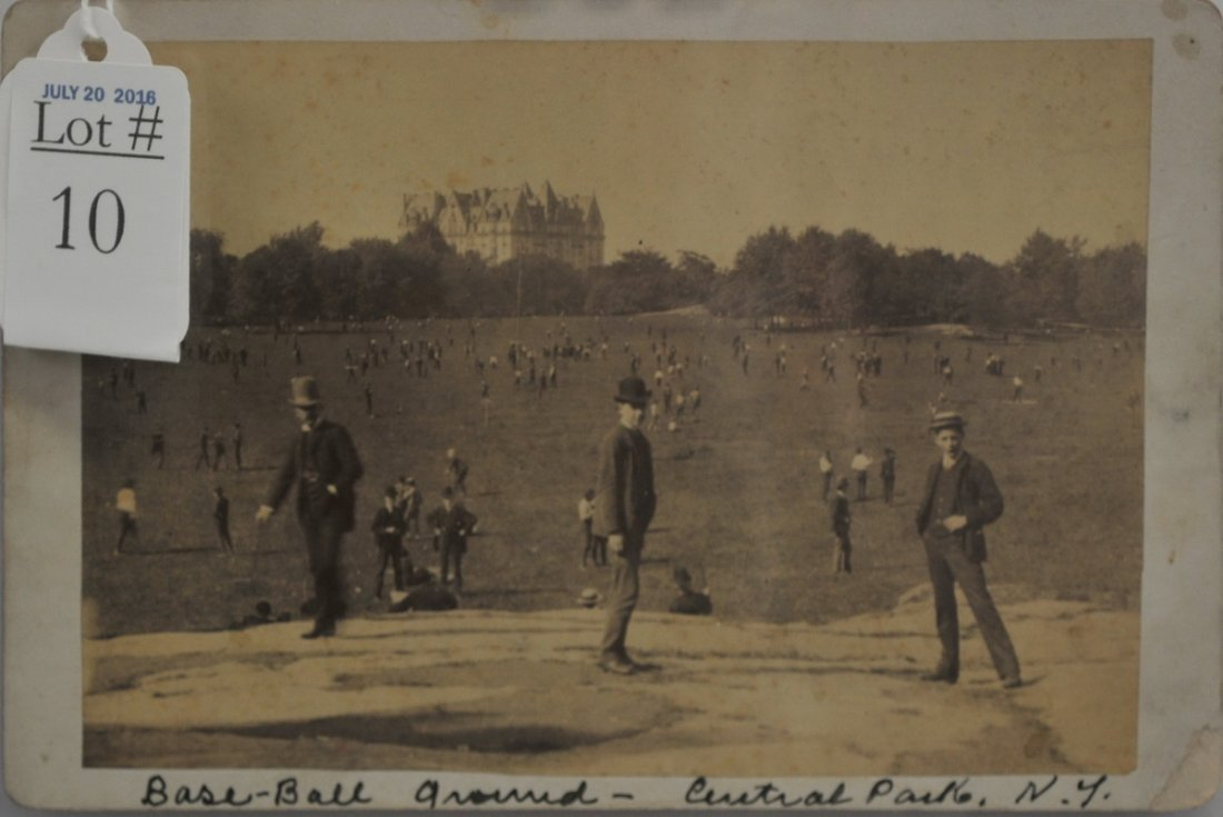 1887 Cabinet Card of Baseball Grounds Central Park