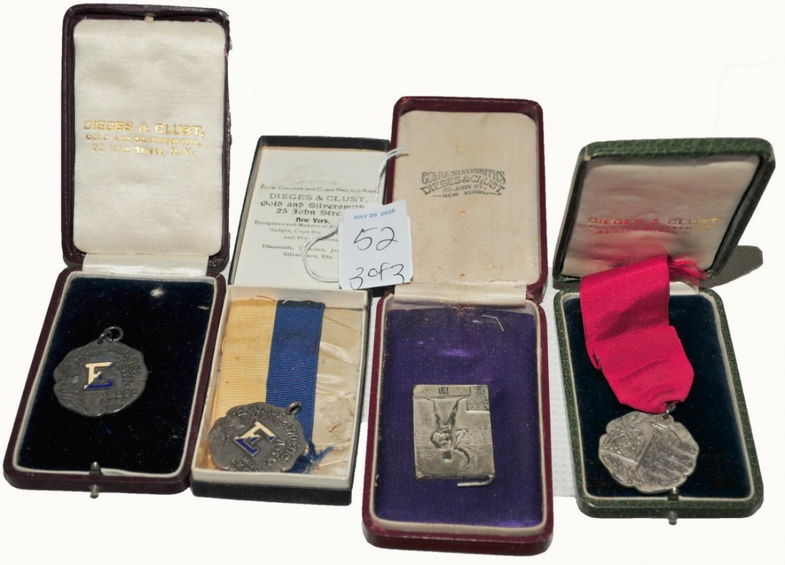 Early 1900's Sterling Presentation Medals/Photo
