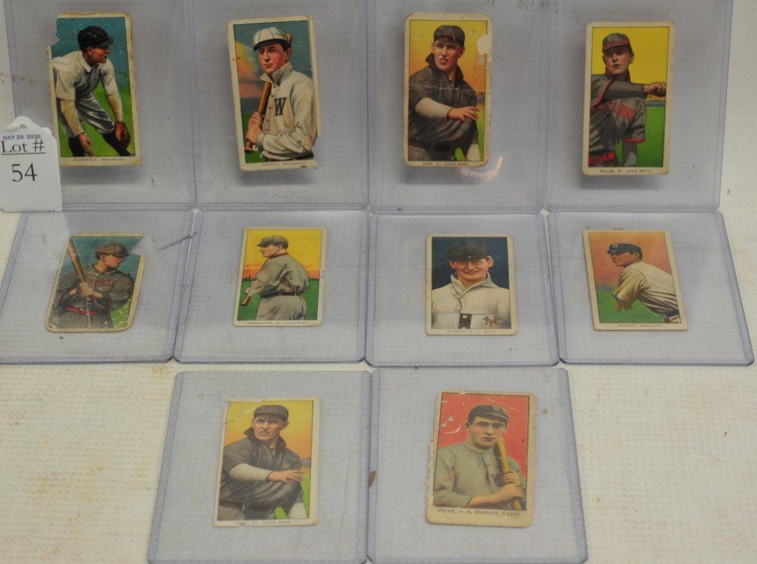 10 T206 and Caramel Baseball Cards
