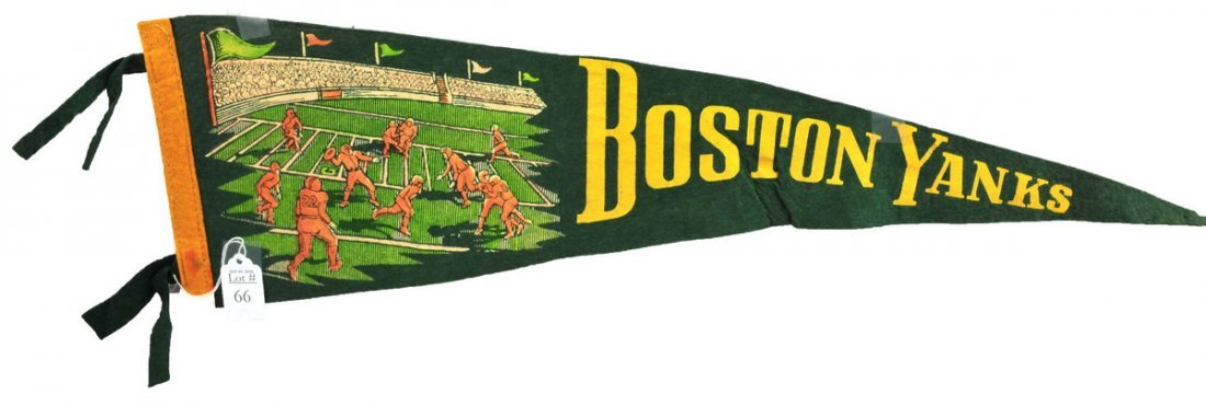 Original Boston Yanks Football Pennant