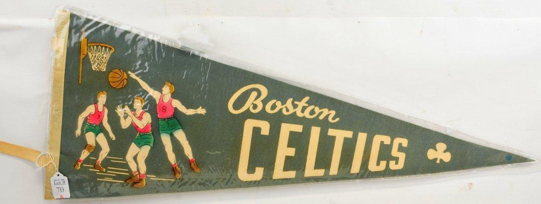 Vintage Boston Celtics Pennant