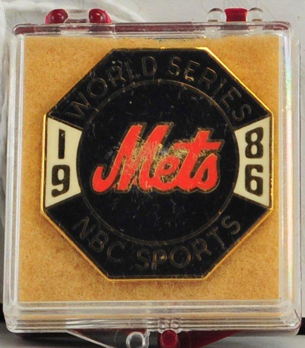 1986 NY Mets World Series Press Pin
