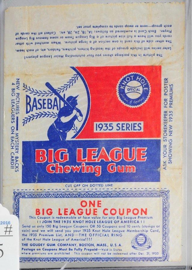 1935 Goudey Gum Wrapper