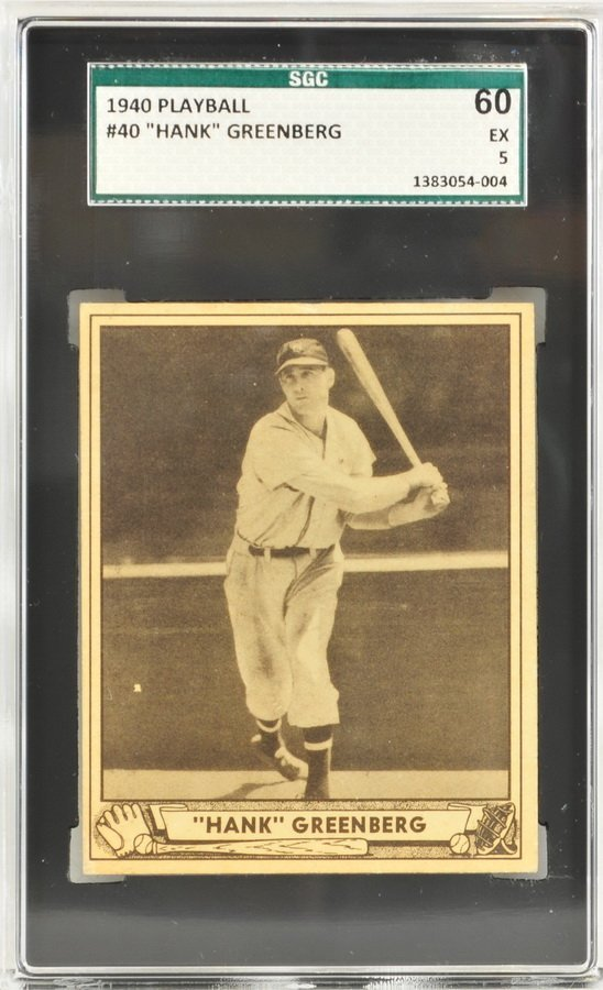 1940 Playball Hank Greenberg