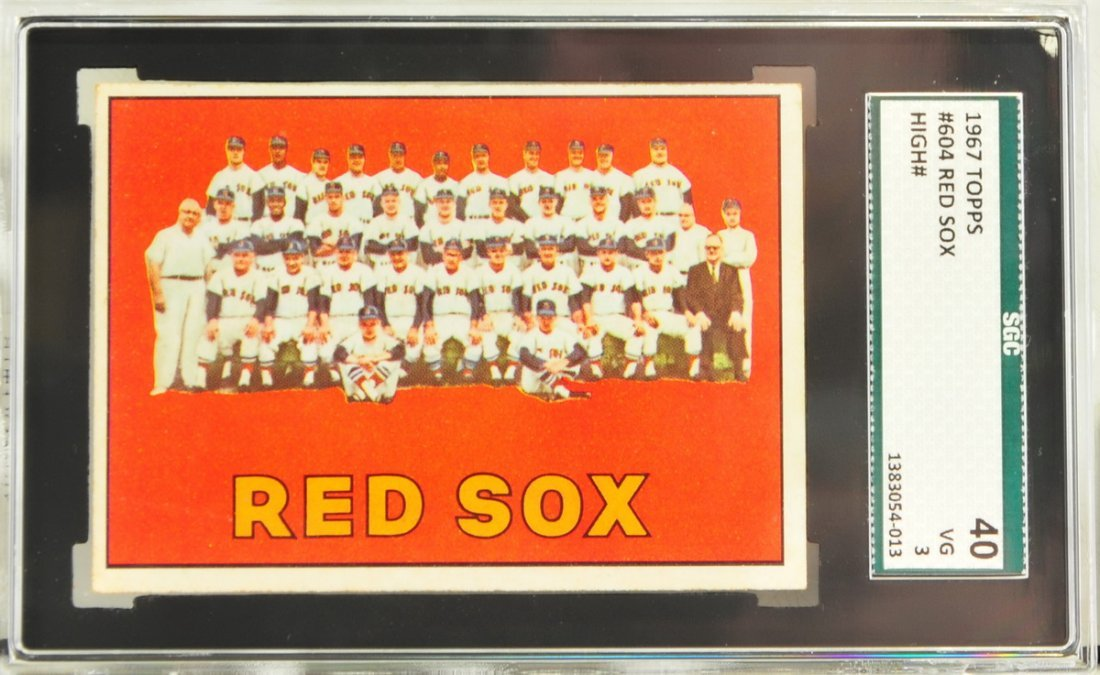 1967 Topps Red Sox Team Card