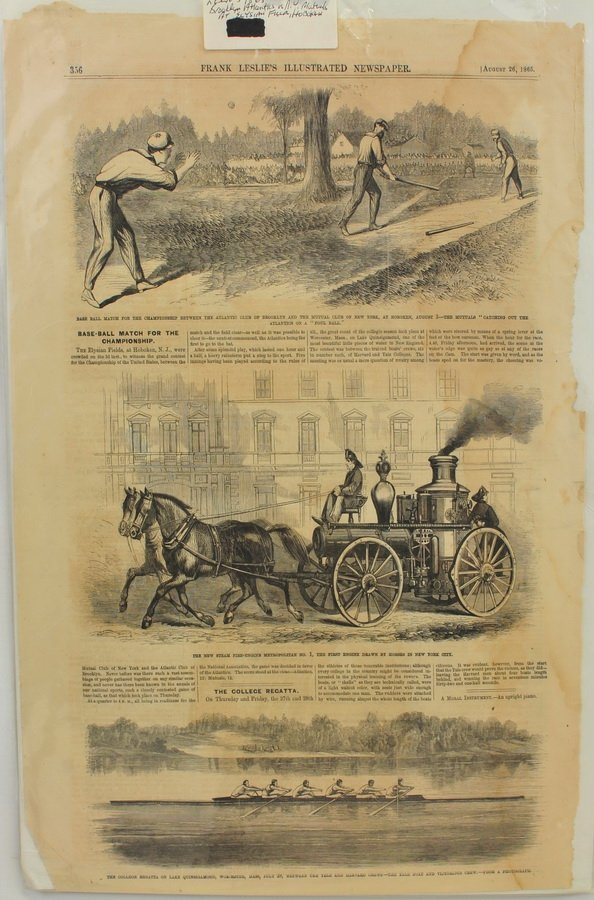 Collection of 4 baseball newspapers 1865-1892