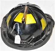 Three Vintage Fire Department Helmets