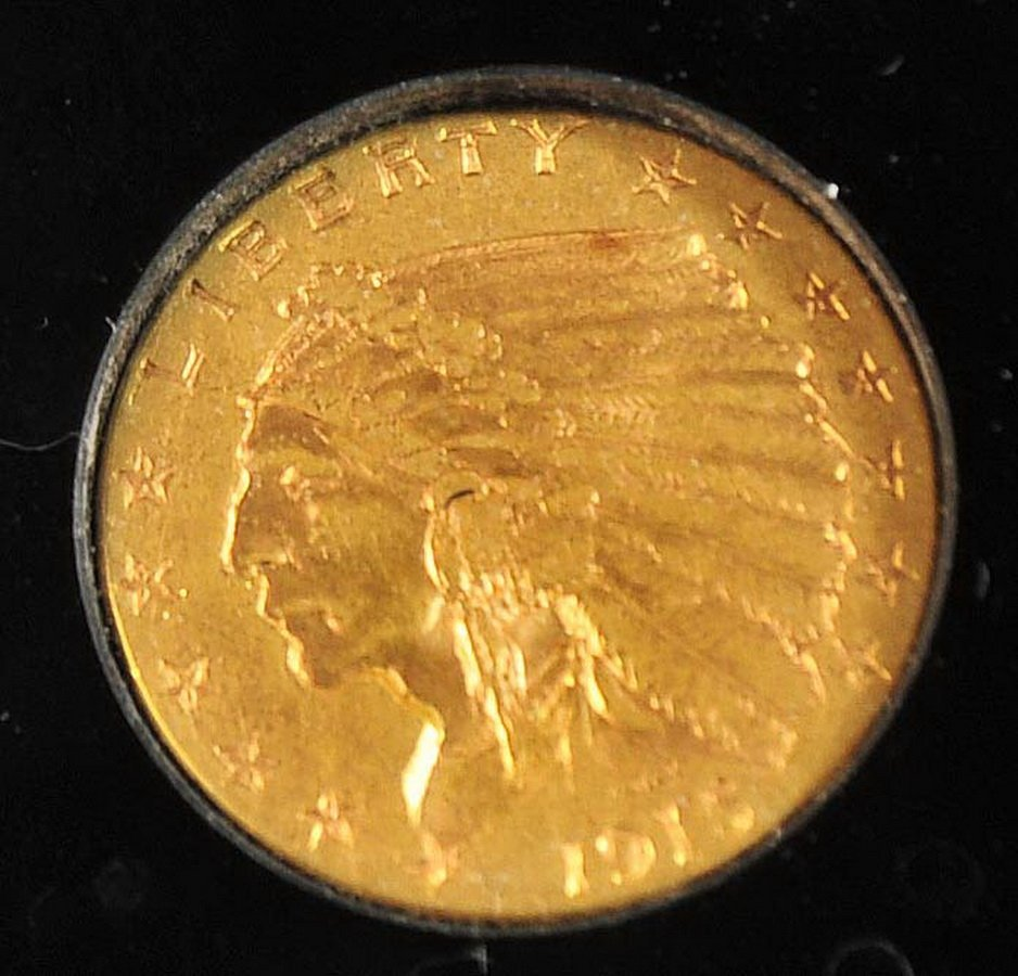 1915 $2.50 US Gold Indian Quarter Eagle