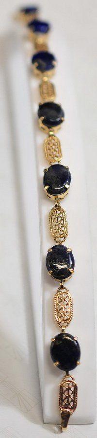 10Kt. Lapis Lazuli Gold Bracelet