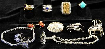 Estate Collection of Sterling Jewelry
