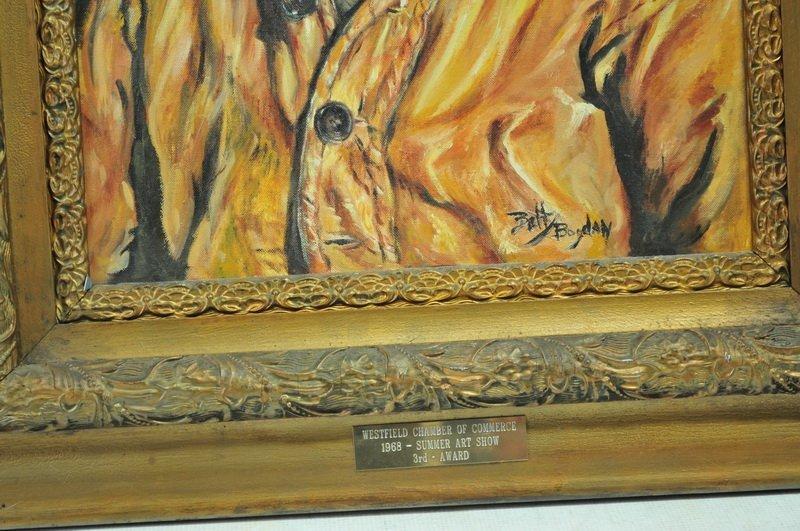 Oil On Canvas/Award Winner 1968 Betty Bogdan - 2