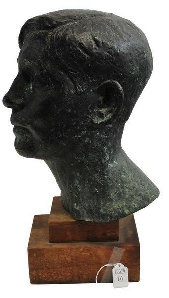 Bronze Bust by Arnold Geissbuhler - 2