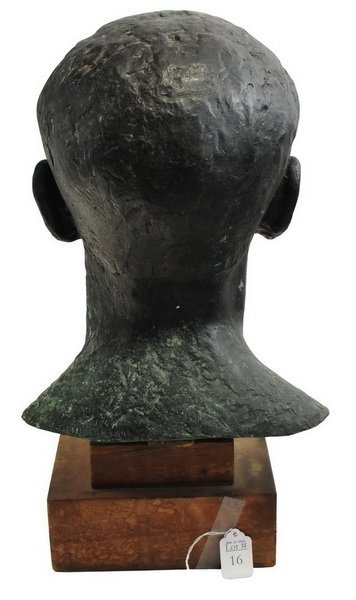 Bronze Bust by Arnold Geissbuhler - 3