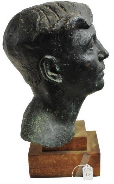 Bronze Bust by Arnold Geissbuhler - 4