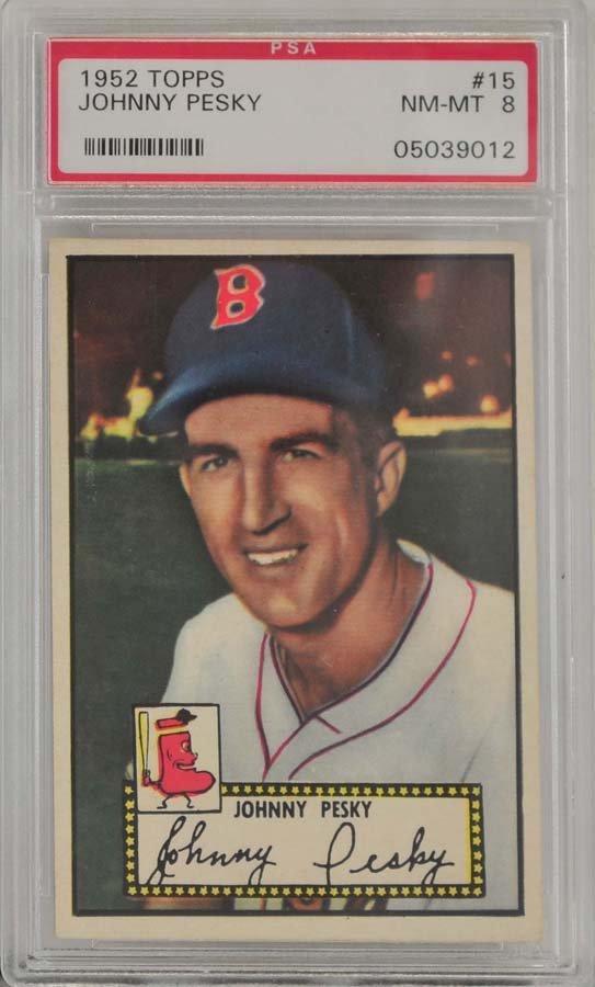 1952 Topps Johnny Pesky PSA Graded 8