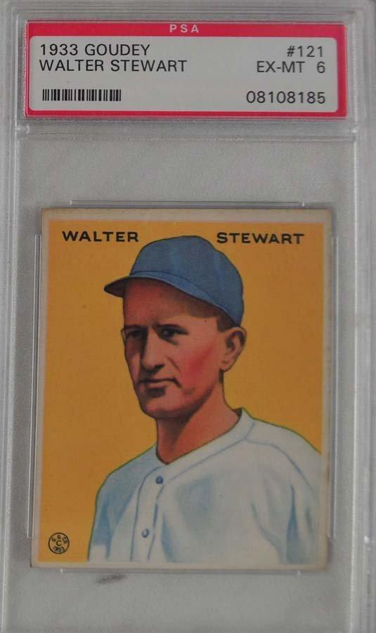1933 Goudey Walter Stewart PSA 6