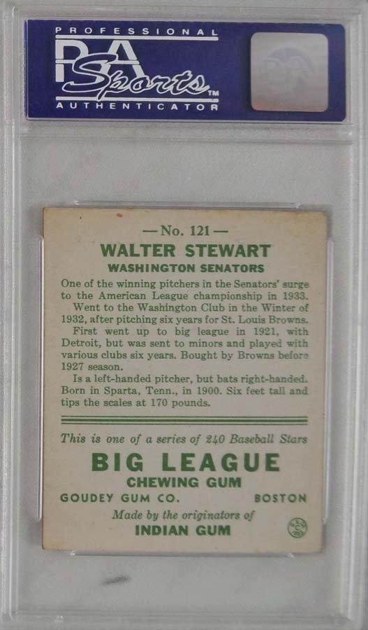 1933 Goudey Walter Stewart PSA 6 - 2