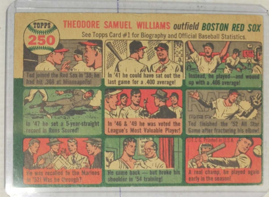 1954 Topps Ted Williams - 2