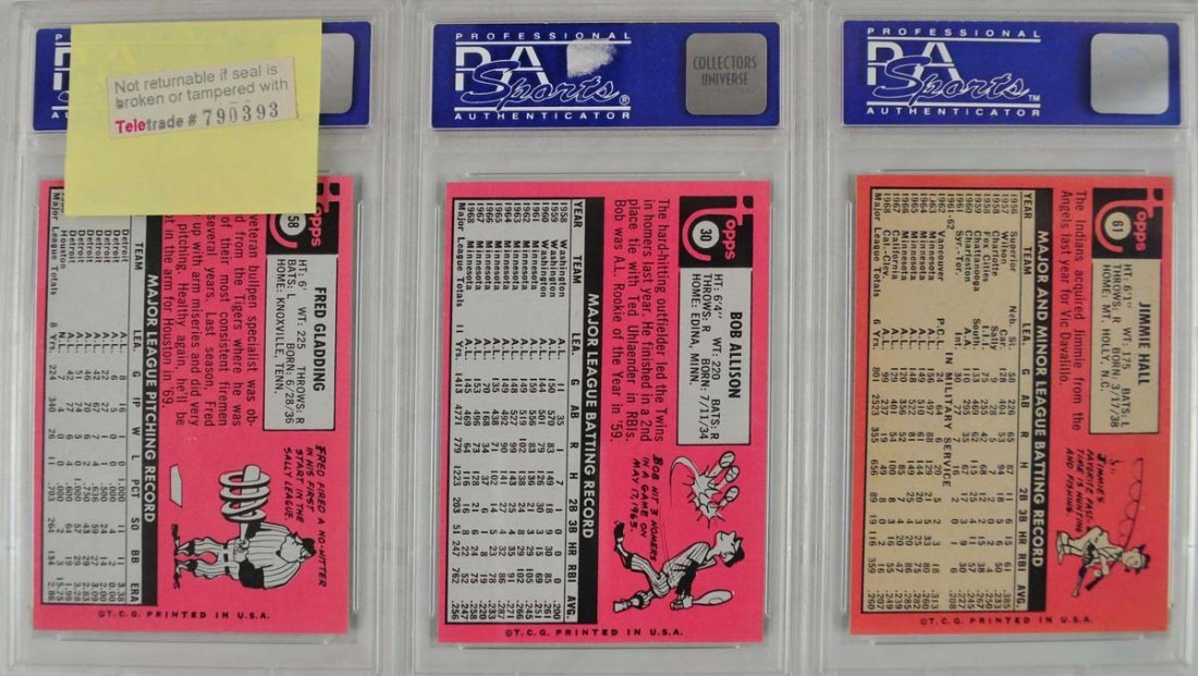 10 1969 Topps Baseball Cards PSA Graded Mint 9 - 2