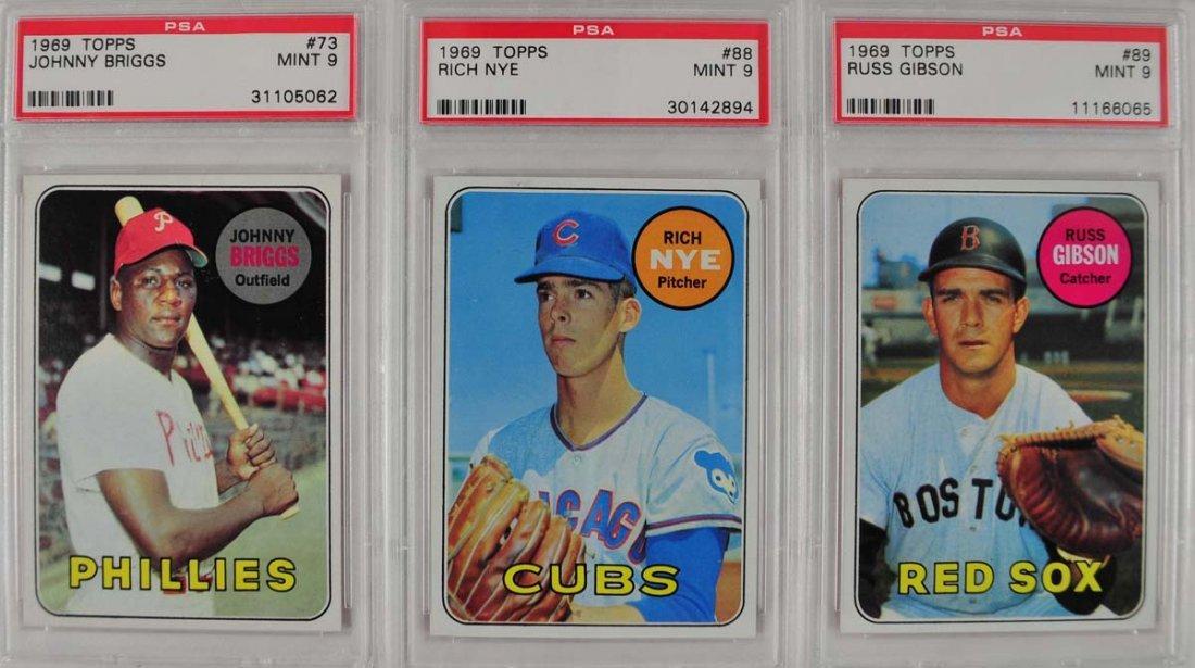 10 1969 Topps Baseball Cards PSA Graded Mint 9 - 3