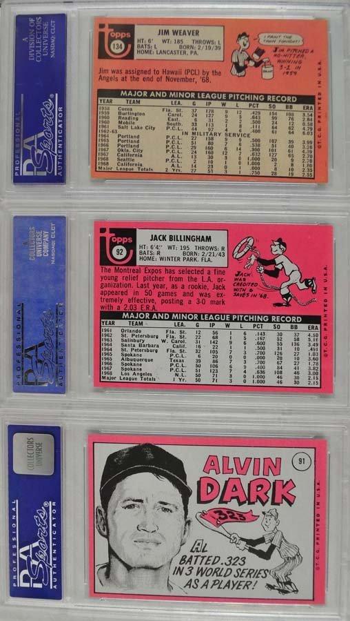 10 1969 Topps Baseball Cards PSA Graded Mint 9 - 6