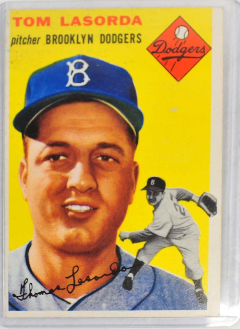 1954 Topps Tommy Lasorda Rookie Card
