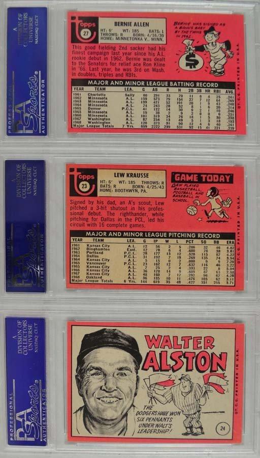 10 1969 Topps Baseball Cards PSA Graded Mint 9 - 4