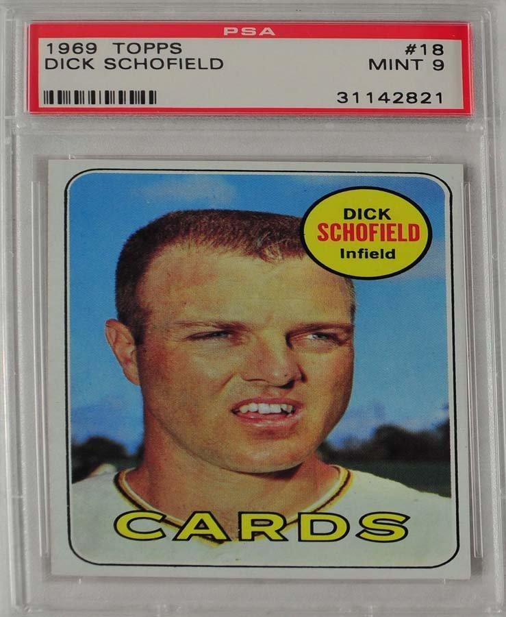 10 1969 Topps Baseball Cards PSA Graded Mint 9 - 7