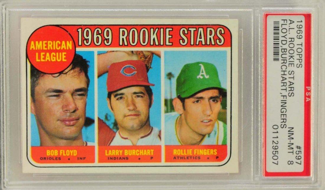 1969 Topps Rookie Rollie Fingers PSA Graded 8