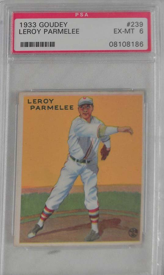 1933 Goudey Leroy Parmalee PSA 6