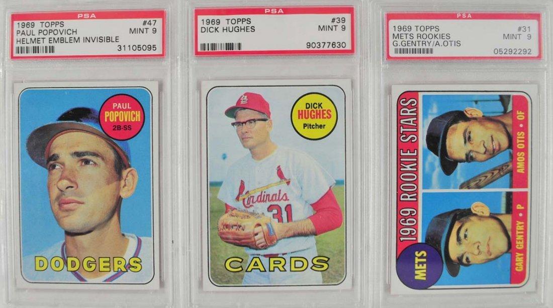 12 1969 Topps Baseball Cards PSA Graded Mint 9