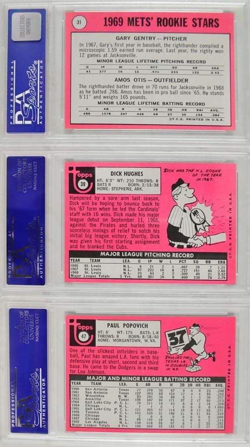 12 1969 Topps Baseball Cards PSA Graded Mint 9 - 2