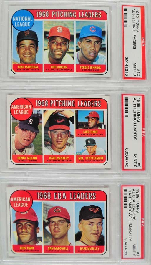 12 1969 Topps Baseball Cards PSA Graded Mint 9 - 5
