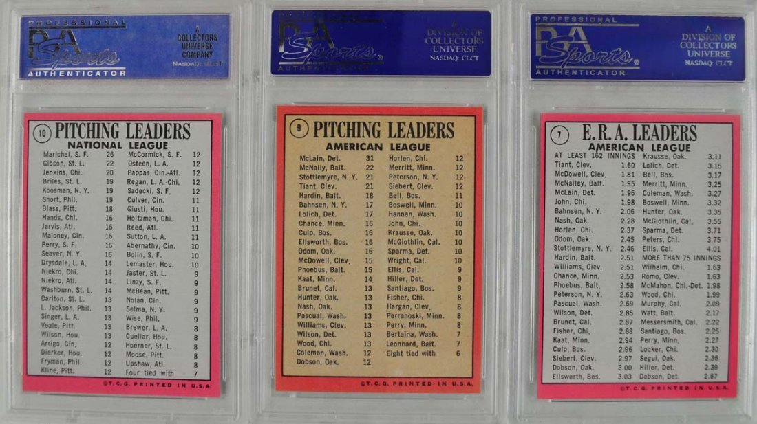 12 1969 Topps Baseball Cards PSA Graded Mint 9 - 6