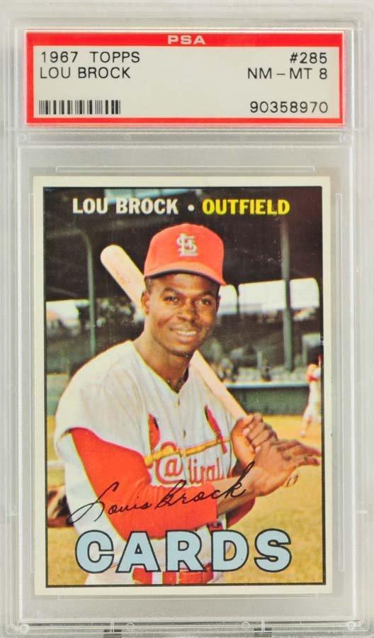 1967 Topps Lou Brock PSA Graded 8