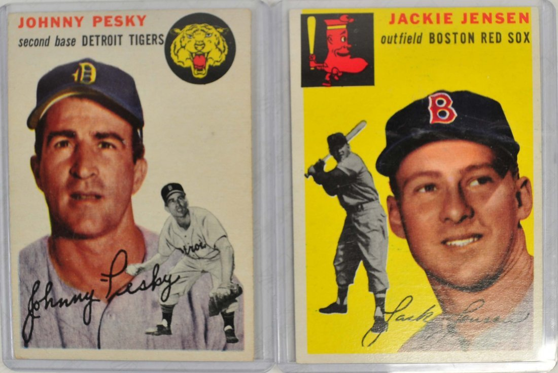 Two 1954 Topps Baseball Cards