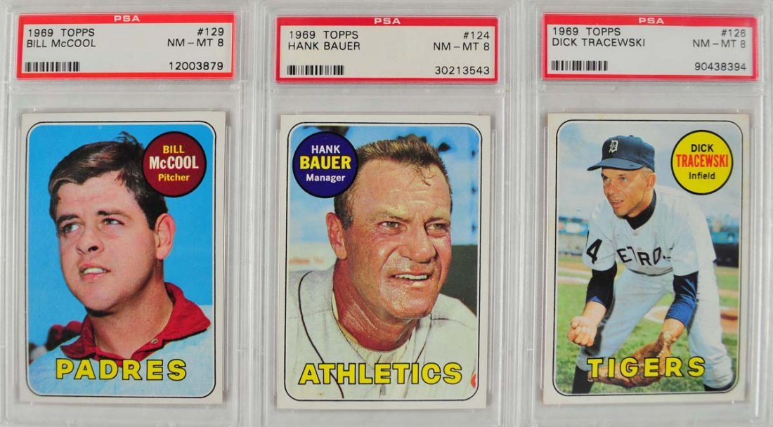 20 1969 Topps Baseball Cards PSA Graded 8 - 3