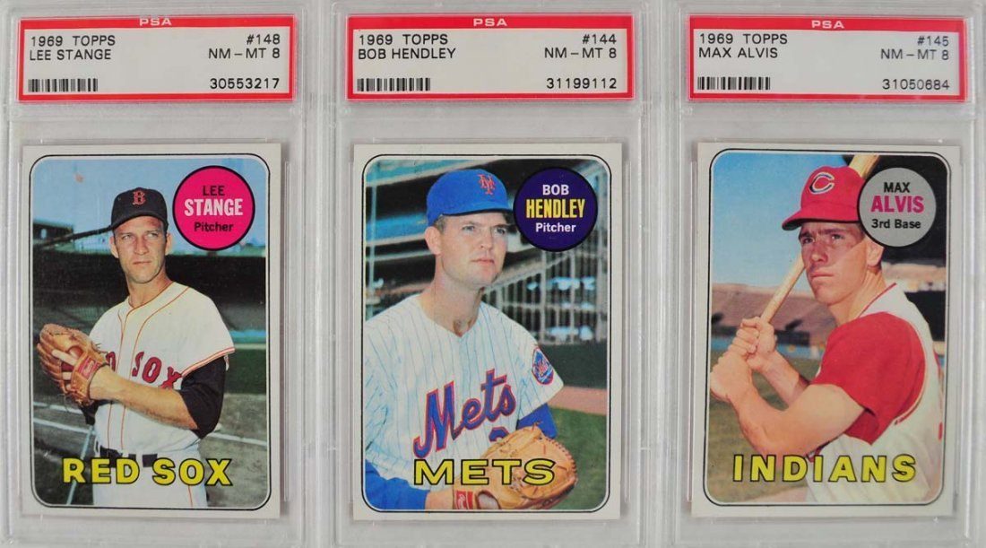 20 1969 Topps Baseball Cards PSA Graded 8 - 7