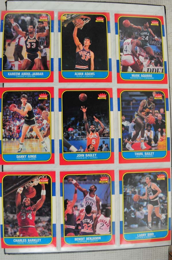 1986 Fleer Complete Set Jordan Graded 5 - 9
